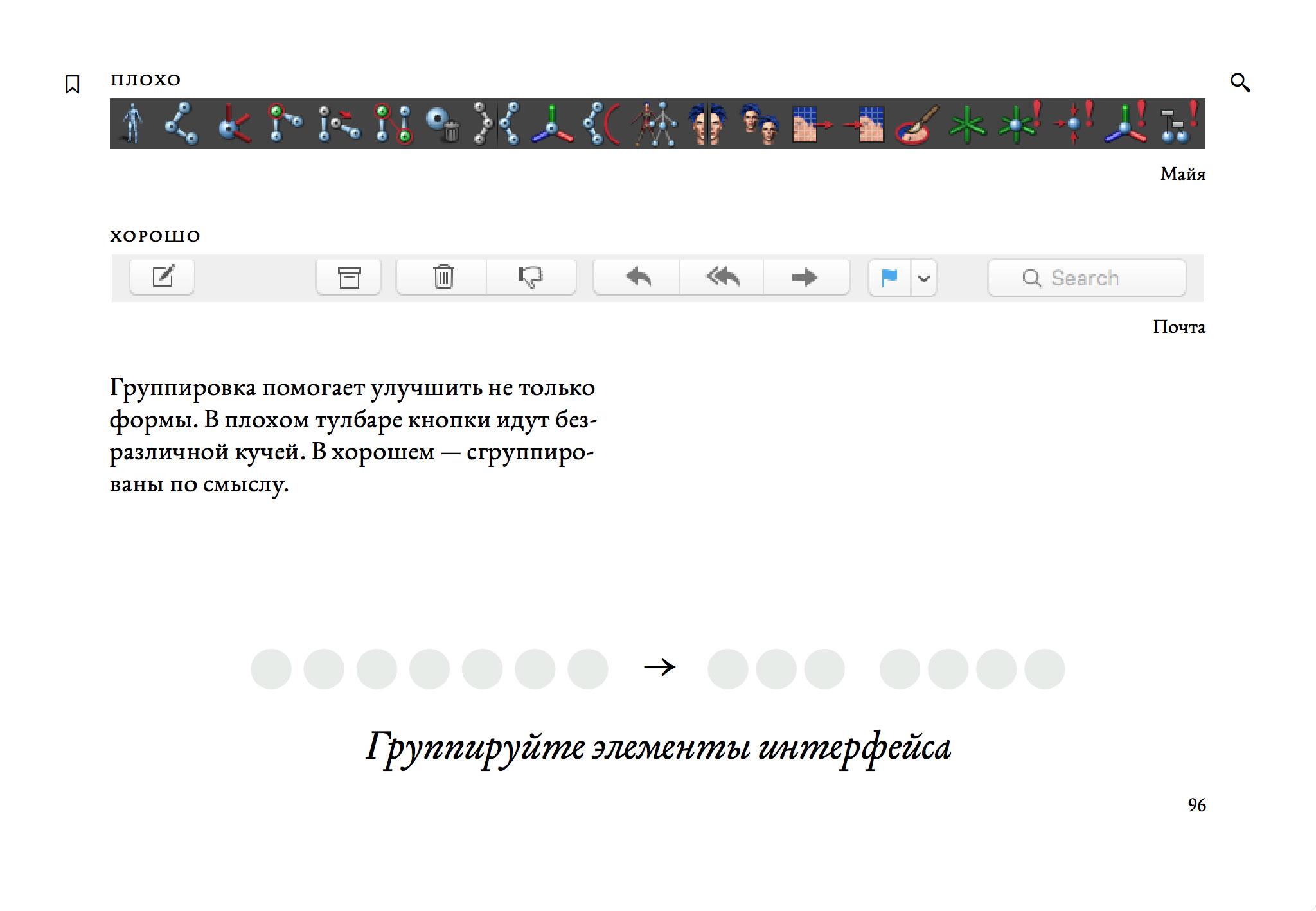 Книга «Пользовательский интерфейс»: часть второго раздела