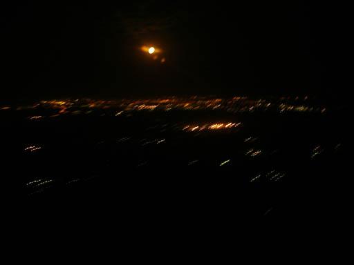 Ночной Челябинск из неба