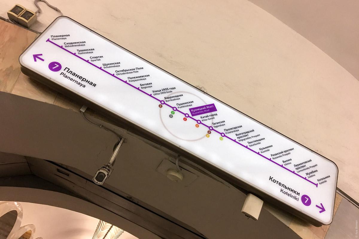 Ориентация по сторонам света в московском метро