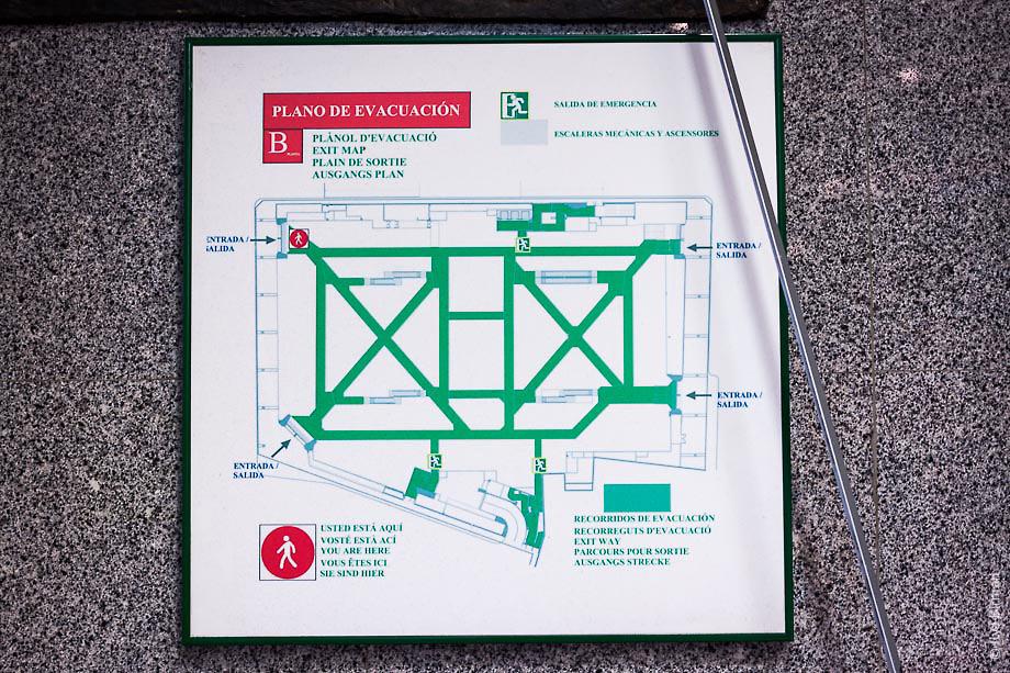 План эвакуации при пожаре в Валенсии