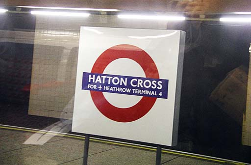 Piccadilly Line — Hatton Cross for Heathrow Terminal 4