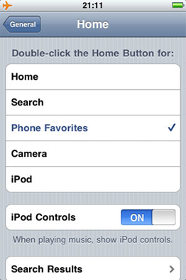 По даблклику центральной кнопки можно будет переходить сразу в Спотлайт или в камеру