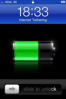 Как выглядит экран разлочки, когда телефон используется в качестве модема (подделка?