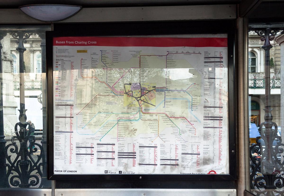 Схема маршрутов от вокзала «Черинг-кросс»
