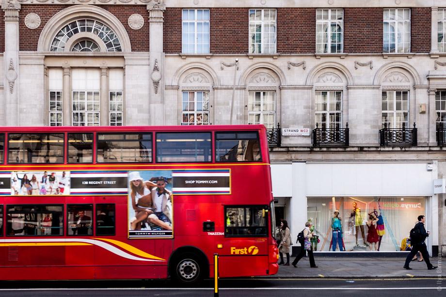 Уличные таблички Лондона. Strand