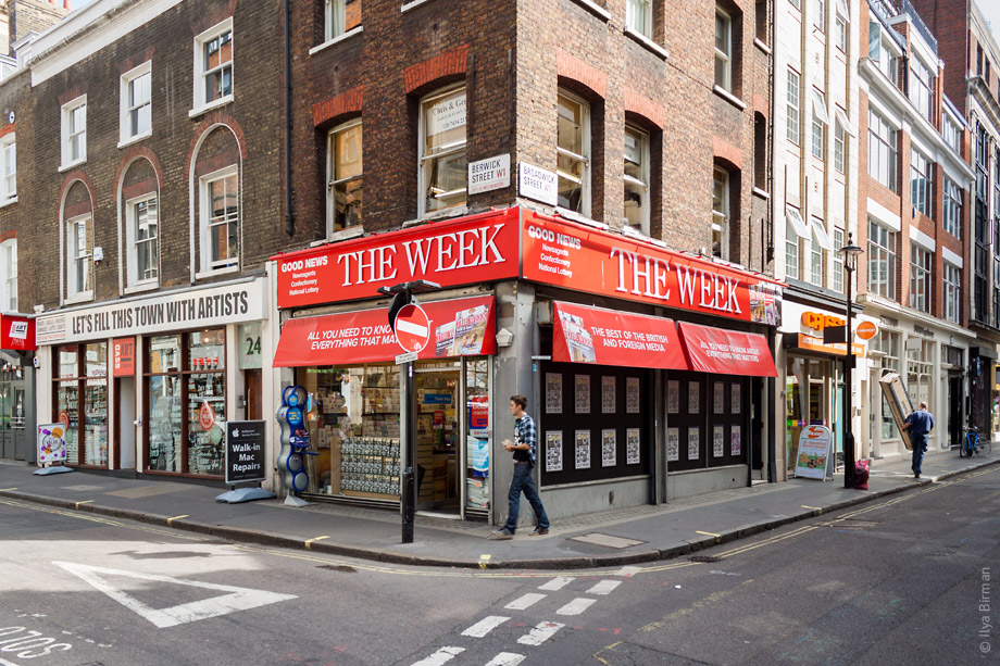 Уличные таблички Лондона. Berwick street & Broadwick street