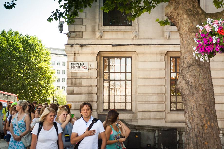 Уличные таблички Лондона. Trafalgar Square