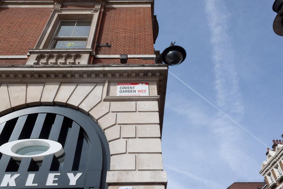 Уличные таблички Лондона. Covent garden