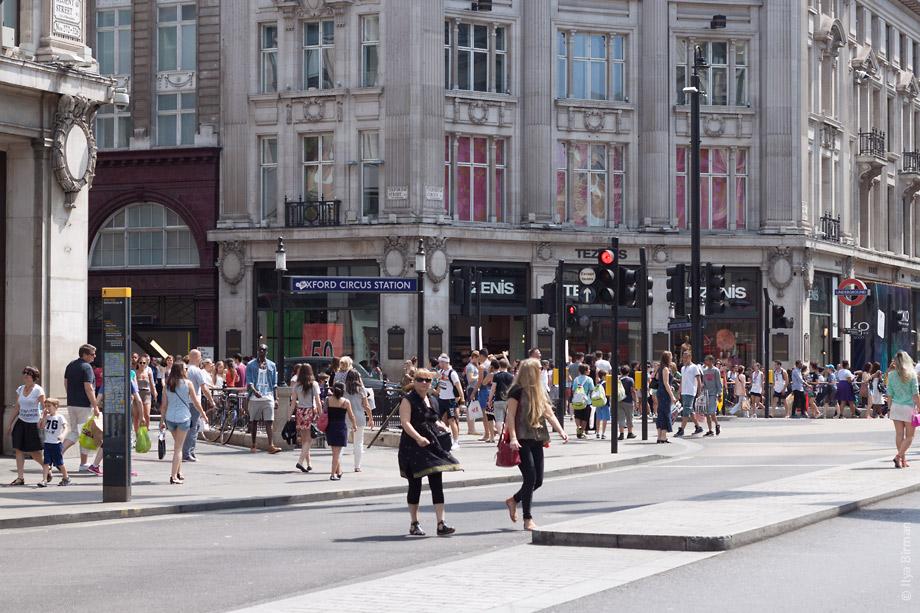 Уличные таблички Лондона. Oxford circus