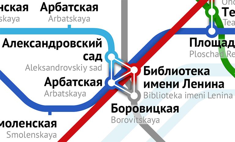 Фрагмент новой схемы метро