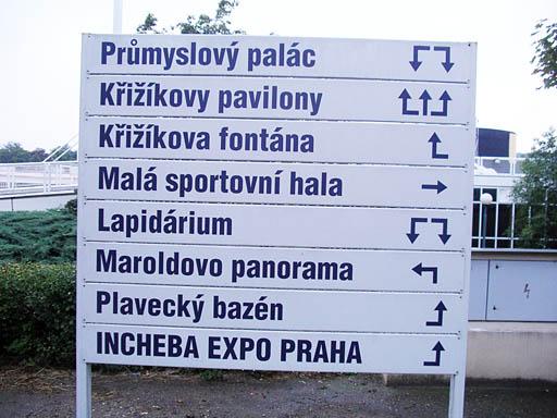 Навигация в общественном месте «Выставиште» в Праге