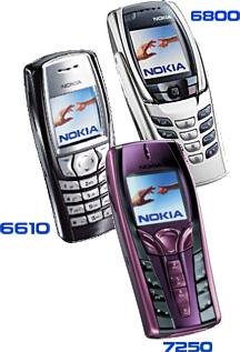 Телефоны Nokia: 6800, 6610 и 7250
