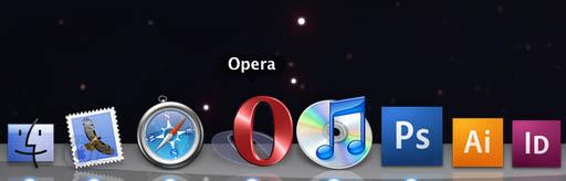 Жуткая иконка Оперы на Маке