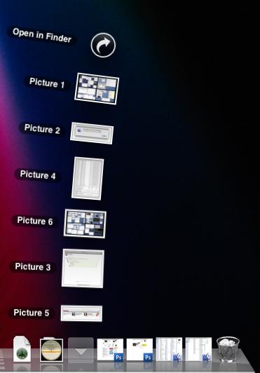 Скриншоты в стеке скриншотов