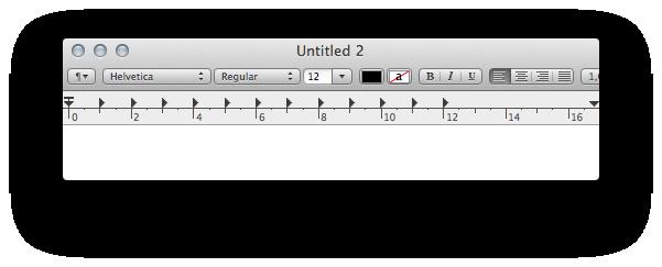 Встроенный в Мак текстовый редактор Текстэдит