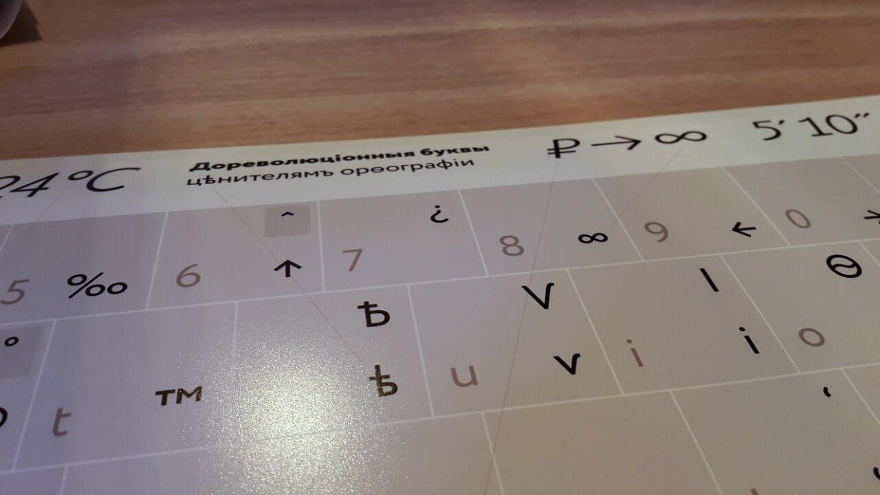 Плакат Типографской раскладки