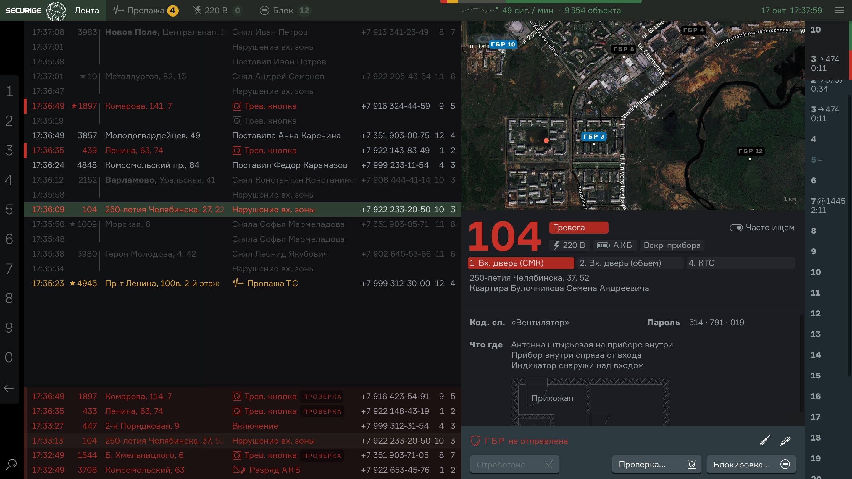 Интерфейс Секьюриджа 2.0